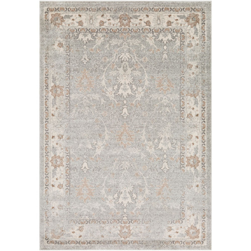 2' x 3' Distressed Finish Gray and Brown Rectangular Area Throw Rug - IMAGE 1
