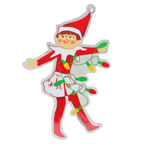 """7.25"""" The Elf on the Shelf with Lights Jelz Christmas Window Cling - IMAGE 1"""