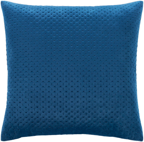 """20"""" Navy Blue Square Throw Pillow with Knife Edge - Down Filler - IMAGE 1"""