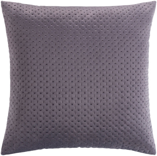"""22"""" Charcoal Gray Square Throw Pillow with Knife Edge - Down Filler - IMAGE 1"""