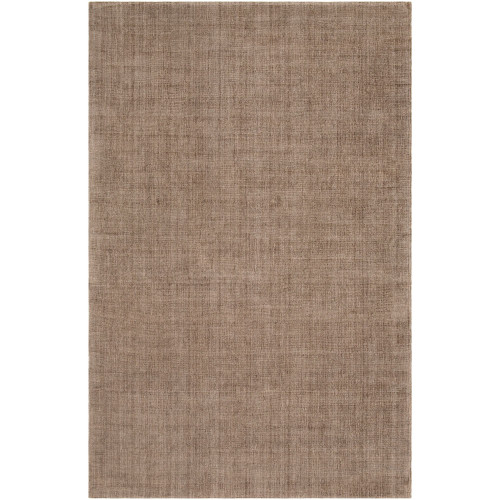 2' x 3' Solid Brown Hand Loomed Rectangular Area Throw Rug - IMAGE 1
