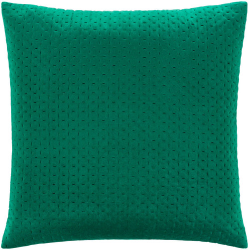 """20"""" Emerald Green Square Throw Pillow with Knife Edge - Down Filler - IMAGE 1"""