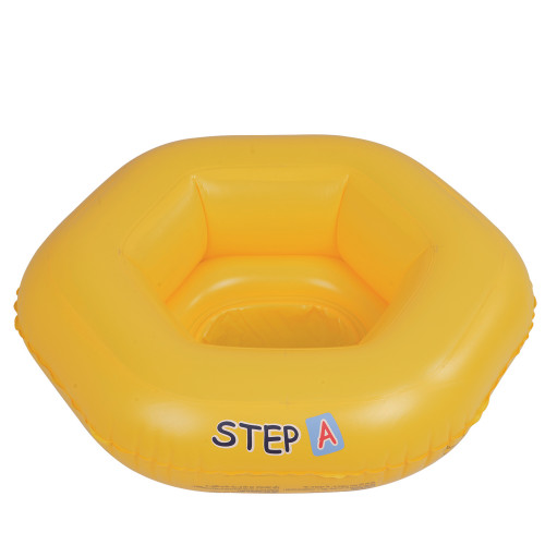 """26"""" Yellow Inflatable STEP A Swimming Pool Baby Seat Float - IMAGE 1"""