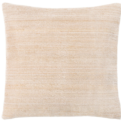 """21"""" Ivory and Beige Striped Design Woven Square Throw Pillow with Knife Edge - Polyester Filler - IMAGE 1"""