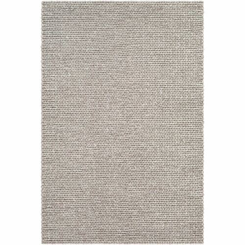 9' x 13' Braided Design Ivory and Gray Rectangular Area Throw Rug - IMAGE 1