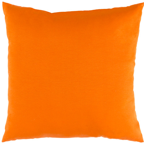 """16"""" Bright Orange Square Throw Pillow Cover with Piping Trim - IMAGE 1"""