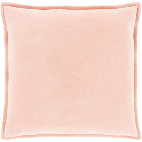 """20"""" Solid Pink Square Woven Throw Pillow with Polyester Filler - IMAGE 1"""