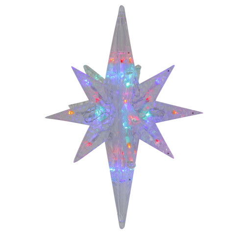 """19"""" LED Multi-Colored 3D Bethlehem Star For Indoor/Outdoor Christmas Decor - IMAGE 1"""