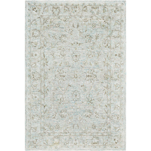 9' x 13' Traditional Style Gray and Brown Rectangular Area Throw Rug - IMAGE 1