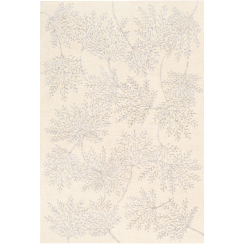 9' x 12' Contemporary Style Cream White and Gray Rectangular Area Throw Rug - IMAGE 1