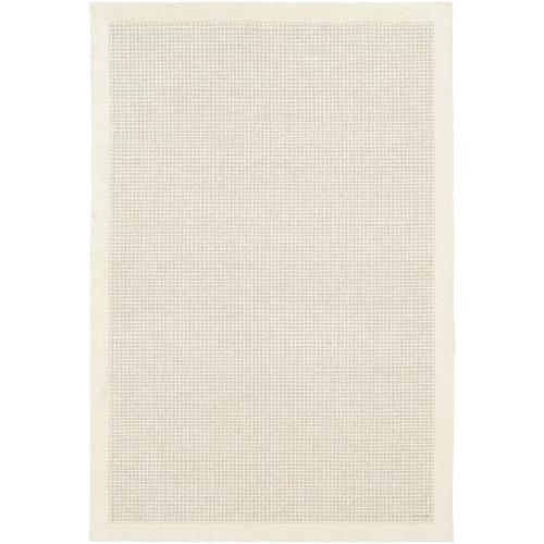 9' x 12' Solid Cream White and Beige Rectangular Area Throw Rug - IMAGE 1