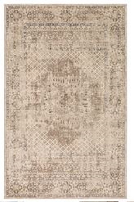 2' x 3' Shades of Brown Accented with a Flower Area Throw Rug - IMAGE 1