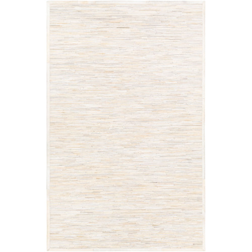 8' x 10' Contemporary Style Beige and Cream White Rectangular Area Throw Rug - IMAGE 1
