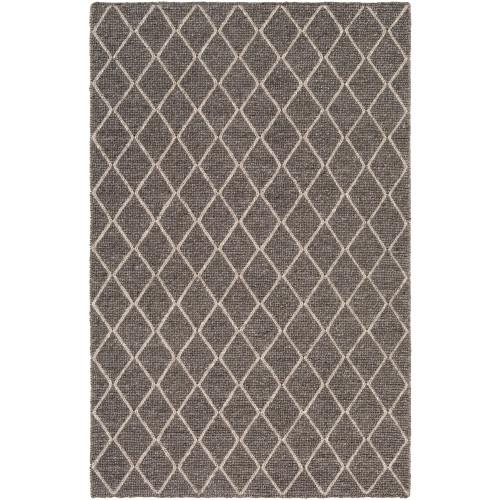 9' x 13' Geometric Chocolate Brown and Ivory Rectangular Area Throw Rug - IMAGE 1