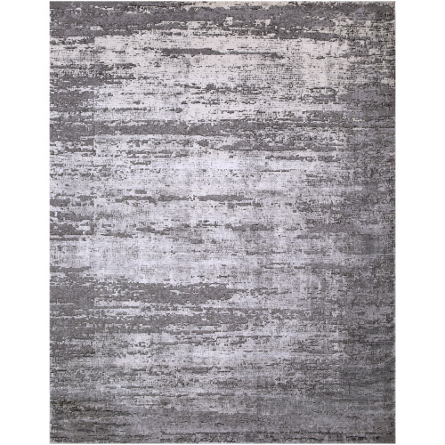 11.8' x 14.9' Distressed Finish Gray and Brown Rectangular Area Throw Rug - IMAGE 1