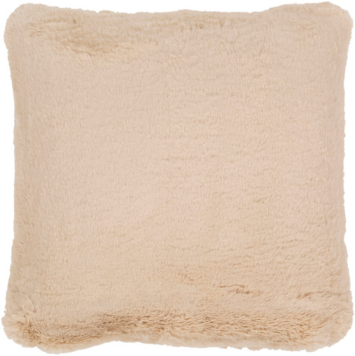 """20"""" Beige Solid Square Throw Pillow Cover - IMAGE 1"""