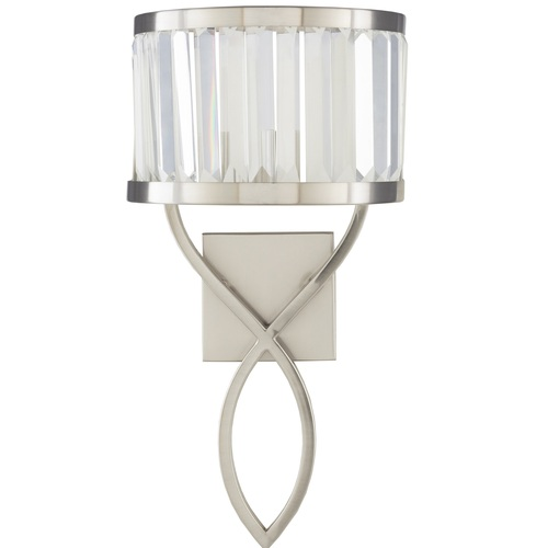 """20"""" Maynard Modern Style Silver Metal Wall Sconces with Crystal Metal Shade - IMAGE 1"""