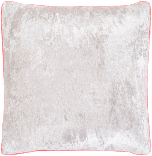 """18"""" Ivory and Pink Square Throw Pillow t - Poly Filled - IMAGE 1"""