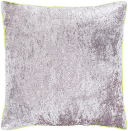 "20"" Gray and Lime Yellow Square Throw Pillow - Poly Filled - IMAGE 1"