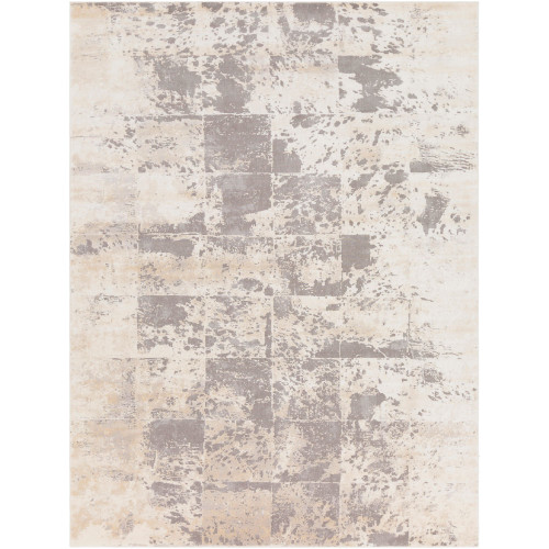 11.8' x 14.9' Distressed Finish Brown and Gray Rectangular Area Throw Rug - IMAGE 1