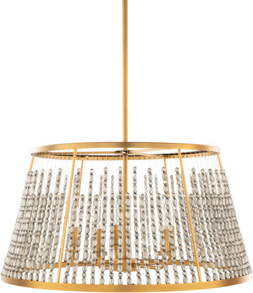24'' Transitional Style Gold Hanging Pendant Ceiling Light Fixture - IMAGE 1