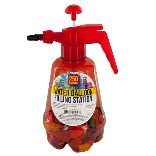 Pack of 2 Red and Black Water Balloon Filling Stations with Balloons - IMAGE 1