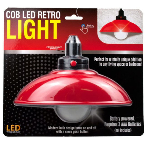 Pack of 4 Red and Black LED Retro Bulb Lights - IMAGE 1