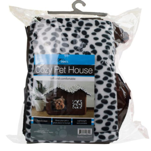 """20"""" Brown and Black High-End Double Pet House Dog Room - IMAGE 1"""