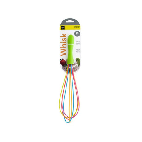 """Pack of 4 Green and Pink Multi-Purpose Rainbow Whisk 10"""" - IMAGE 1"""