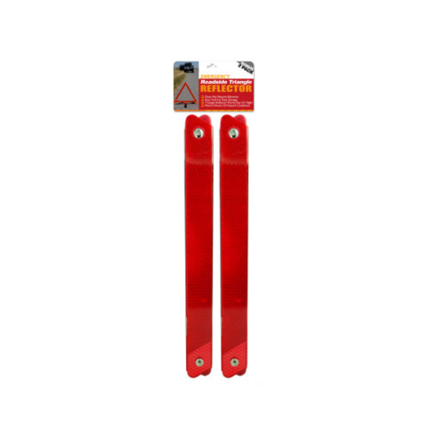 """Pack of 4 Red Emergency Roadside Reflective Triangle Set 16"""" - IMAGE 1"""