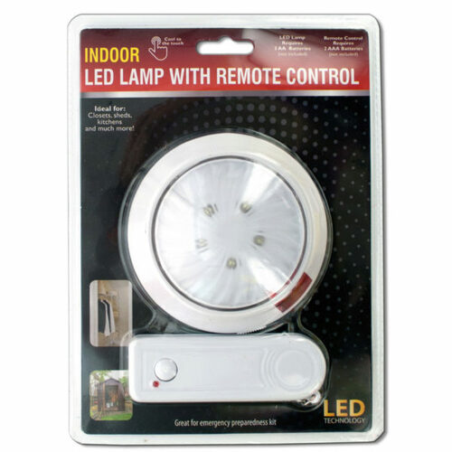 """Pack of 4 White and Red Indoor LED Lamps with Remote Control 4.25"""" - IMAGE 1"""