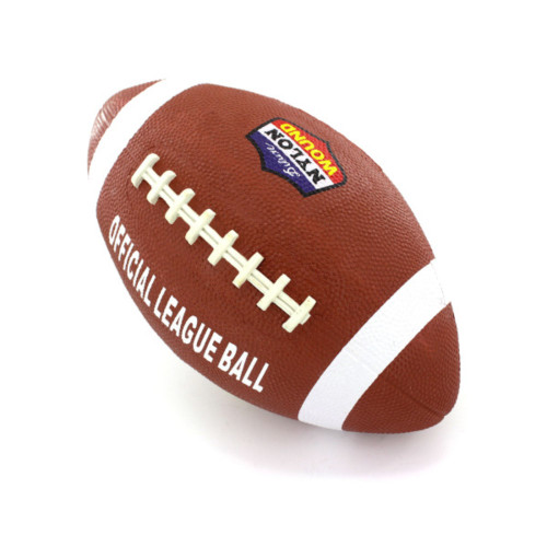 Brown and White Oval Official Size Football - IMAGE 1