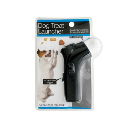 """Pack of 2 Black Dog Treat Launcher with Spring Action Trigger 7"""" - IMAGE 1"""