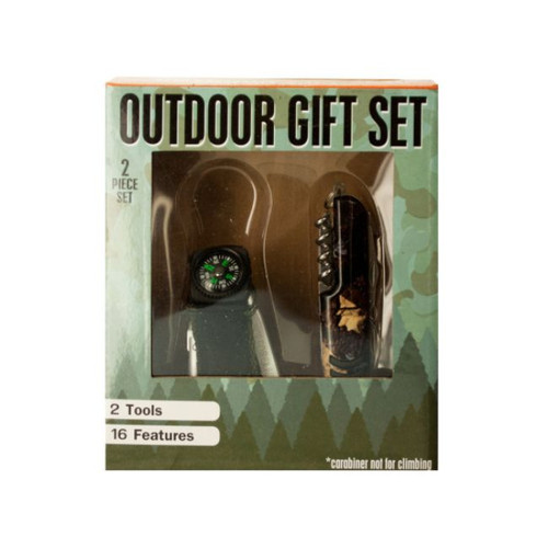 Pack of 2 Black Outdoor Multi-Function 2-Piece Tool Gift Sets - IMAGE 1