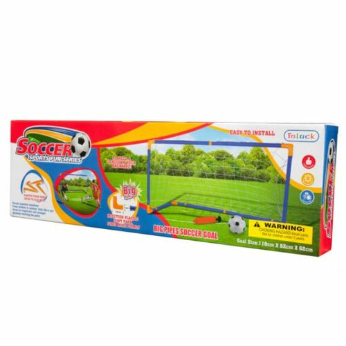"""Pack of 2 Green and Red Kids' 20-Piece Soccer Game Set 46.5"""" - IMAGE 1"""