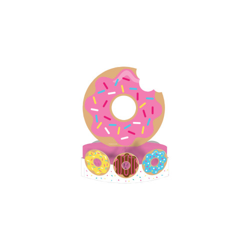 "Pack of 6 Pink and Yellow Donut Time Party Centerpieces 12"" - IMAGE 1"