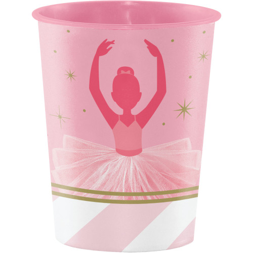 """Club Pack of 12 Pink and White Twinkle Toes Keepsake Cups 4.5"""" - IMAGE 1"""