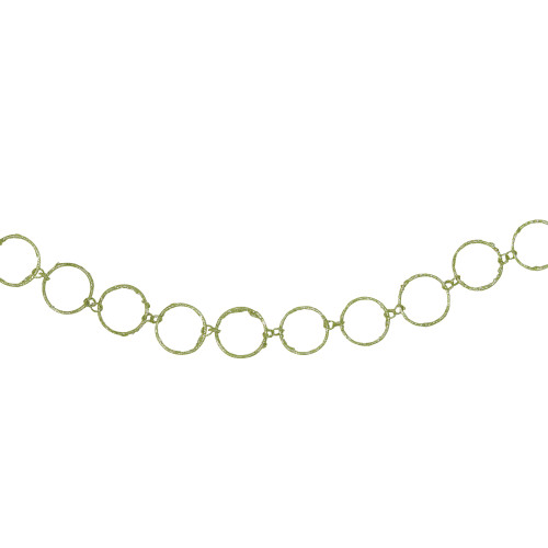 "5' x 1.75"" Lime Green Glittered Round Ring Chain Artificial Christmas Garland - Unlit - IMAGE 1"