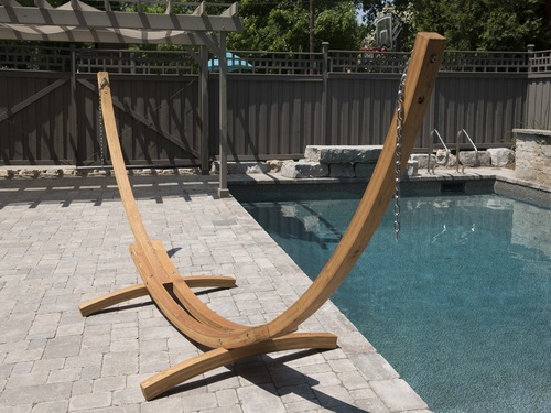 """179"""" Solid Pine Arc Hammock Stand with Hardware - IMAGE 1"""