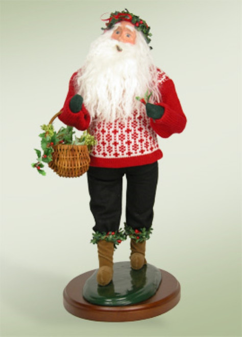 """19"""" Collectible Handcrafted """"Deck the Halls"""" Santa Claus Caroling Christmas Figure - IMAGE 1"""