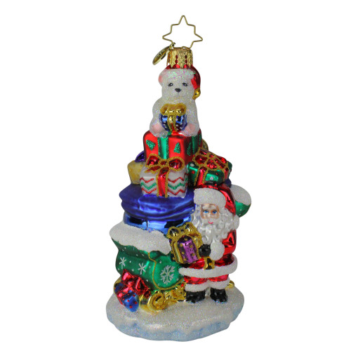 Christopher Radko Surprise At The Top Glass Christmas Ornament #1019859 - IMAGE 1