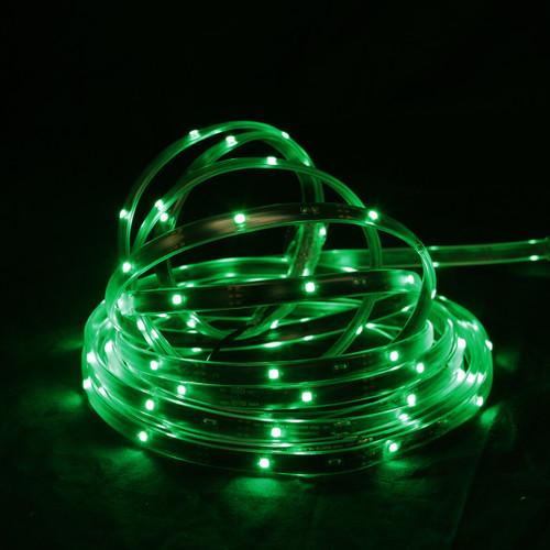 18' Green LED Outdoor Christmas Linear Tape Lighting - Black Finish - IMAGE 1