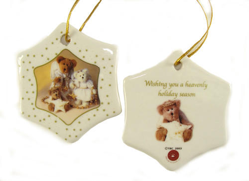 """Club Pack of 192 White and Brown Boyds Holiday Bears Christmas Ornaments 3"""" - IMAGE 1"""