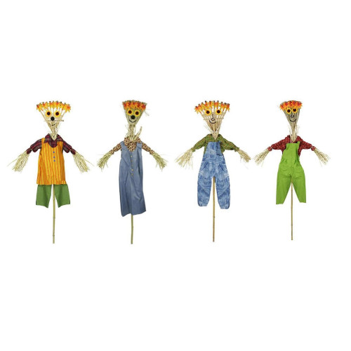 """Club Pack of 12 Green Broom Head Halloween Decor Scarecrows 16"""" - IMAGE 1"""