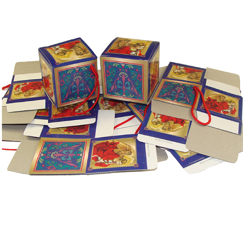 """Club Pack of 1440 Blue and Gold Trumpeting Angel Mini Gift Box Christmas Ornaments 2"""" - IMAGE 1"""