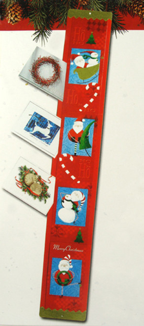 """Club Pack of 120 Red Santa Claus and Candy Cane Christmas Greeting Cardholders 42"""" - IMAGE 1"""