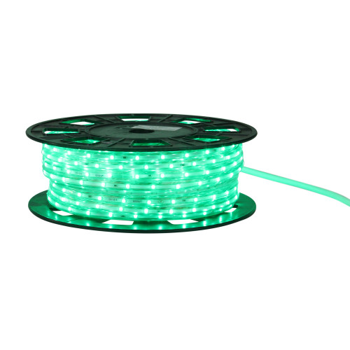 100' Green and Clear Commercial LED Outdoor Christmas Linear Tape Lights - IMAGE 1