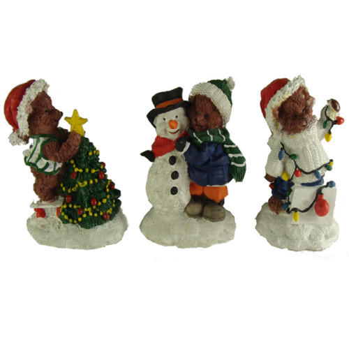 "Club Pack of 72 Christmas Bear Table Top Figures 3.5"" - IMAGE 1"