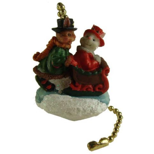 """Club Pack of 144 Red and White Victorian Rabbit Christmas Ceiling Fan Pulls 8"""" - IMAGE 1"""