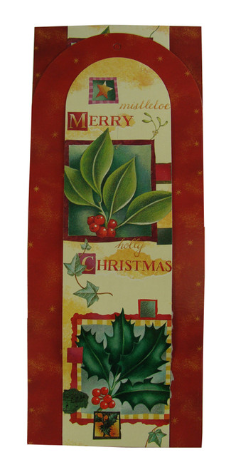 """Club Pack of 144 Red and Green Holly Berry Wall Hanging Christmas Greeting Card Holders 42"""" - IMAGE 1"""